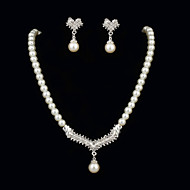Women's Pearl Jewelry Set Rhinestone