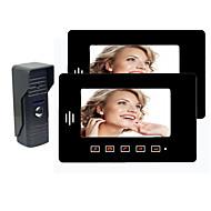 두 7 인치 Mointor (터치 키, Warterproof 야외 카메라)와 비디오 도어 전화 번호