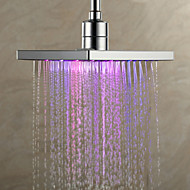 7 Colors Ændring LED Contemporary Shower Faucet Head of 8 inch