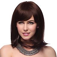 Senza cappuccio di media dritto al 100% dei capelli umani parrucche con 2 colori da scegliere