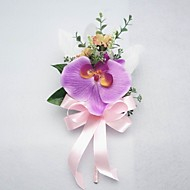 "Wedding Flowers Free-form Peonies Boutonnieres Wedding / Party/ Evening Satin / Cotton Fuchsia 3.94""(Approx.10cm)"