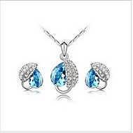 Unique Alloy With Crystal / Rhinestone Women's Jewelry Set Including Necklace,Earrings(More Colors)