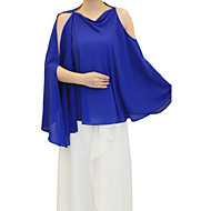 Hoods & Ponchos / Wedding  Wraps Ponchos Sleeveless Chiffon As Picture Shown Wedding / Party/Evening Pullover