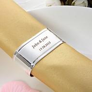 Personalizado Oval Silver Ring Guardanapo Chapada