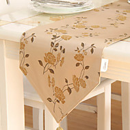 Pays Jacquard Kaki Chemins de table floral