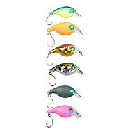 "1 pcs Hard Bait / Crank / Fishing Lures Hard Bait / Crank Green / Orange / Pink / Yellow / Gold / Random Colors g/1/6 oz. Ounce mm/1"" inch"