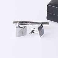 Gift Groomsman Personalized Intail Cufflinks And Tie-bar
