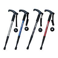 4 opvouwbare t soort functionele wandelstokken (willekeurige kleur)