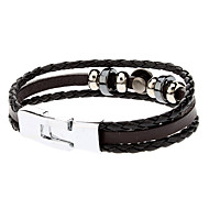 Tillbehör elegant kombination Leather Rope Bracelet