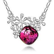Unique Alloy With Gold Plated Rhinestone Women's Fashion Necklace (More Colors)