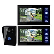 7 palcový TFT LCD Video dveře s klíčem dotykové (1 fotoaparát s 2 monitory)