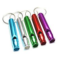 Survival Whistle Trilha Sobrevivência / Assobio liga de alumínio Verde / Vermelho / Azul / Roxo / prata