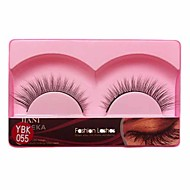 1 Pair Black Machine Made False Eyelashes YBK055