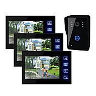 7 tums TFT LCD video dörr med touch-tangenten (1 kamera med 3 monitorer)