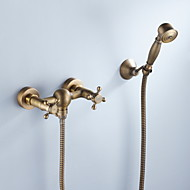 Tub Faucet Antique Brass Finish with Hand Shower