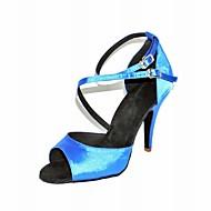 נשים מותאמות אישית סאטן רצועת קרסול נעלי ריקוד / סלוניים לטיניים (צבעים נוספים)
