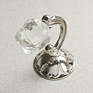 Crystal Rose Antikke sølvfarvede Finish holdbacks (et par)