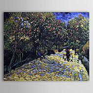 Famous Oil Painting Avenue with Flowering Chestnut Trees by Van Gogh
