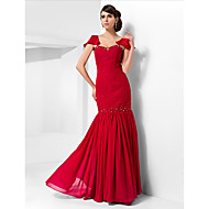 Formal Evening/Prom/Military Ball Dress - Ruby Plus Sizes Trumpet/Mermaid Sweetheart Floor-length Chiffon