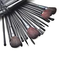 18 Makeup Brushes Set Nylon / Goat Hair / Synthetic Hair Face / Lip / Eye