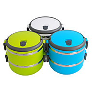 Portable 2-Tier Insulation Bento Lunch Box (Assorted Colors)