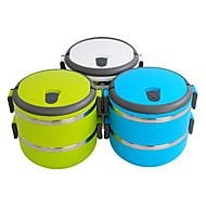 caixa de isolamento bento almoço portátil 2-tier (cores sortidas)