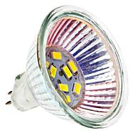 MR16 1.5W 9x5730SMD 120-150LM 6000-6500K Natural White Light LED Spot Bulb (12V)