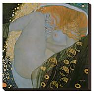 Danae di Gustav Klimt Famosa Stampa trasferimenti su tela