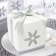 Belle boîte de faveur Cut-out Snow (Set of 12)
