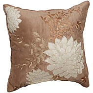 TWOPAGES® Leather/suede Pillow Cover Embellished&Embroidered Traditional