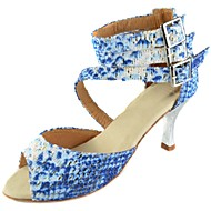 Zapatos de baile (Azul) - Danza latina/Salón de Baile - Personalizados - Tacón Personalizado