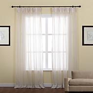 Dva panely Window Léčba Neoklasika , S proužky Polyester Materiál Sheer Záclony Shades Home dekorace For Okno