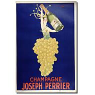 Painettu Canvas Art Vintage Champagne - Joseph Perrier Vintage Julisteet venytetty Frame