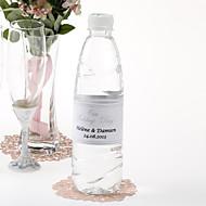 Agua personalizada Etiqueta Botella - El día de la boda (Silver / Set de 15)
