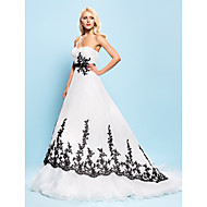 Lanting Bride® Ball Gown Petite / Plus Sizes Wedding Dress - Chic & Modern / Elegant & Luxurious Wedding Dresses in Color Court Train