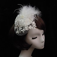 Women's Lace/Feather/Rhinestone/Imitation Pearl/Net Headpiece - Special Occasion Fascinators