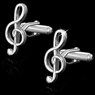 Gift Groomsman Music Note Shaped Cufflinks(Box Color Random)