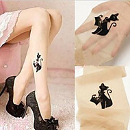 Pompous Black Cat Flesh Colored Sweet Lolita Stockings