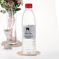 Garrafa de água personalizada Sticker - Brindando flautas (Prata / Set of 15)