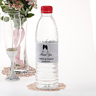 Agua personalizada Etiqueta Botella - Flautas Tostado (Silver / Set de 15)