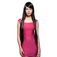 korkiton pitkä 100% tuodaan lämmönkestävä musta puku osapuoli peruukki