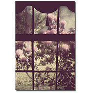 Printed Canvas Art The Window by Mindy Sommers - Photography with Strethed Frame