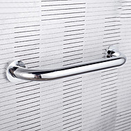 "Grab Bar Chrome Wall Mounted 336 x 10 x 60mm (13.25 x 0.4 x 2.4"") Brass Contemporary"
