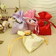 꽃 새틴 유리 가방 (12 세트)