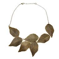 Temperament Restoring Ancient Ways Leaves Pattern Leaves Short Necklace