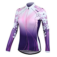 Santic Women's Cycling Jersey Long Sleeve Ultraviolet Resistant 100% Polyester (Purple) C01025