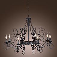 stylowy żyrandol z 8 lamp w stylu antycznym