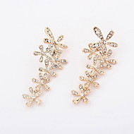 Unique Alloy With Rhineston Flower Shaped  Earrings