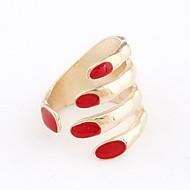 Fashion Alloy Fingernail Shaped Women's Ring