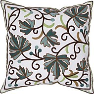 TWOPAGES® Polyester Pillow Cover Embellished&Embroidered Tropical